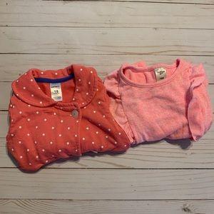 Set of Two Baby Girl Tops